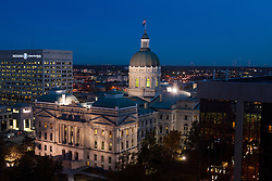 State Capitol Building at dawn, Indianapolis, Indiana, United States of America
