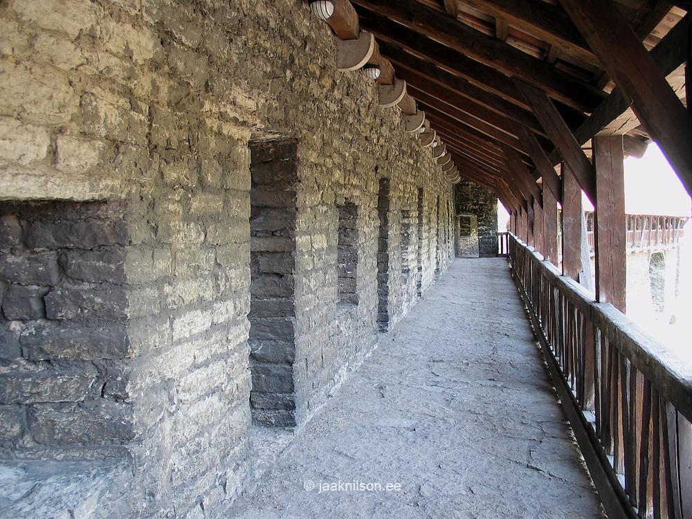 Passage on Tallinn Old Medieval Hansa Town Wall in Estonia