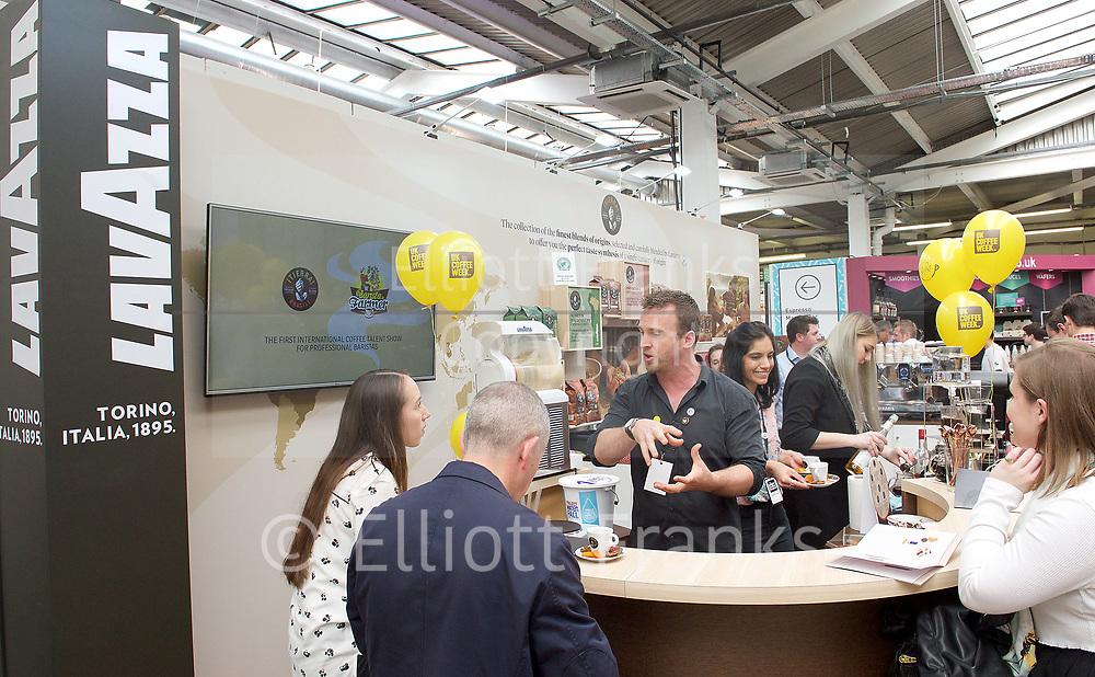 The London Coffee Festival <br /> Truman Brewery, Brick Lane, London, Great Britain <br /> 7th April 2017 <br /> <br /> <br /> <br /> <br /> <br /> Photograph by Elliott Franks <br /> Image licensed to Elliott Franks Photography Services