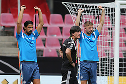"08.06.2015, RheinEnergie Stadion, Koeln, GER, Nationalmannschaft, Training, im Bild Sami Khedira (Real Madrid) und Christoph Kramer (Borussia Moenchengladbach) bei Athletik-Uebungen mit National-, Bundestrainer Joachim ""Jogi"" Loew // during a trainingssession of the german national team at the RheinEnergie Stadion in Koeln, Germany on 2015/06/08. EXPA Pictures © 2015, PhotoCredit: EXPA/ Eibner-Pressefoto/ Schüler<br /> <br /> *****ATTENTION - OUT of GER*****"