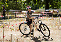 Young riders enjoy the Bikeworks in the Green Park Festival Zone, part of The Prudential RideLondon FreeCycle. Saturday 28th July 2018<br /> <br /> Photo: Jed Leicester for Prudential RideLondon<br /> <br /> Prudential RideLondon is the world's greatest festival of cycling, involving 100,000+ cyclists - from Olympic champions to a free family fun ride - riding in events over closed roads in London and Surrey over the weekend of 28th and 29th July 2018<br /> <br /> See www.PrudentialRideLondon.co.uk for more.<br /> <br /> For further information: media@londonmarathonevents.co.uk