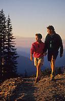 A couple hikes Whistler Mountain, summer evening.