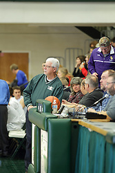 22 January 2016: IHSA Basketball game during the McLean County Tournament at Shirk Center in Bloomington Illinois - Boys Semifinal, Fieldcrest v Ridgeview