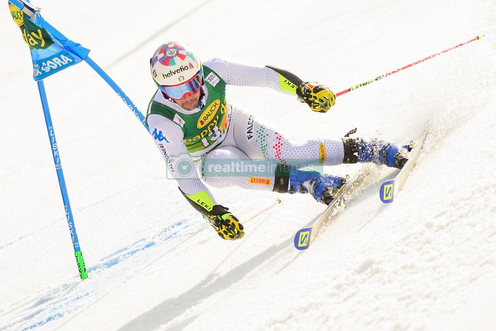 March 9, 2019 - Kranjska Gora, Kranjska Gora, Slovenia - Luca De Aliprandini of Italy in action during Audi FIS Ski World Cup Vitranc on March 8, 2019 in Kranjska Gora, Slovenia. (Credit Image: © Rok Rakun/Pacific Press via ZUMA Wire)