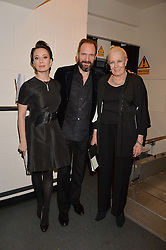 Left to right, Chulpan Khamatova, Ralph Fiennes and Vanessa Redgrave at the Gift of Life held at The Royal Festival Hall on South Bank, London England. 14 January 2017.