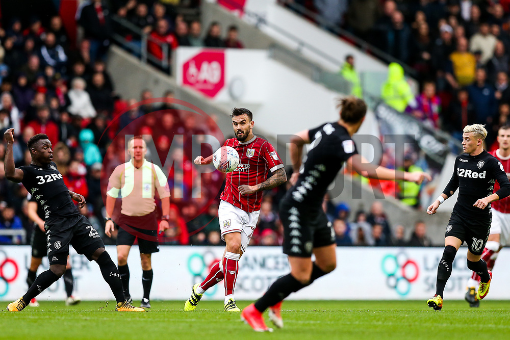 Marlon Pack of Bristol City - Rogan/JMP - 21/10/2017 - Ashton Gate Stadium - Bristol, England - Bristol City v Leeds United - Sky Bet Championship.