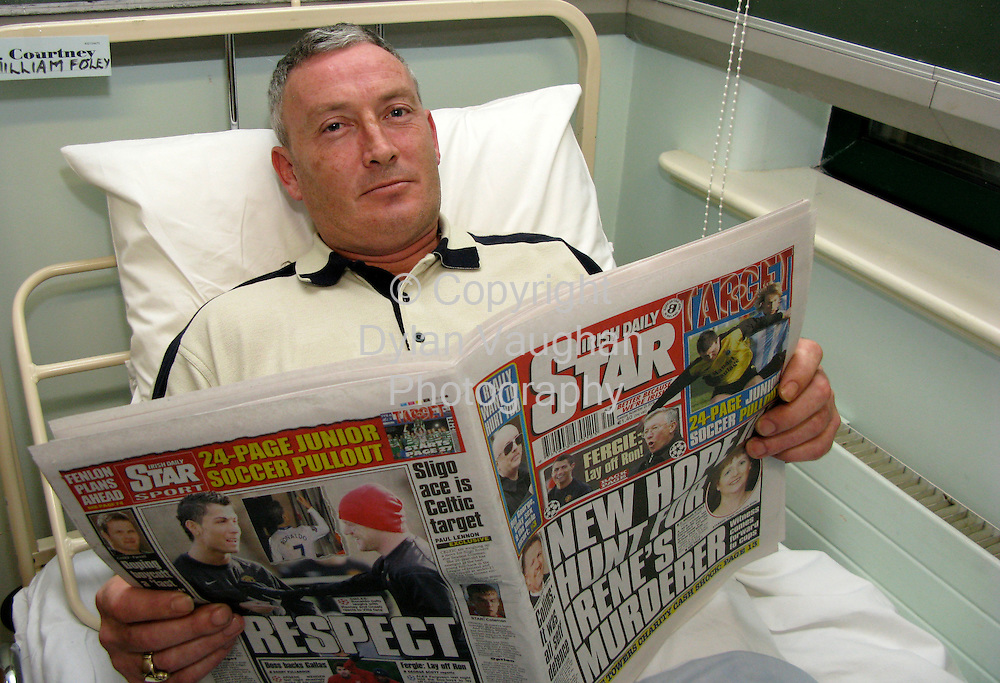 25/11/2008.William Foley pictured in St Lukes Hospital in Kilkenny yesterday..Picture Dylan Vaughan.