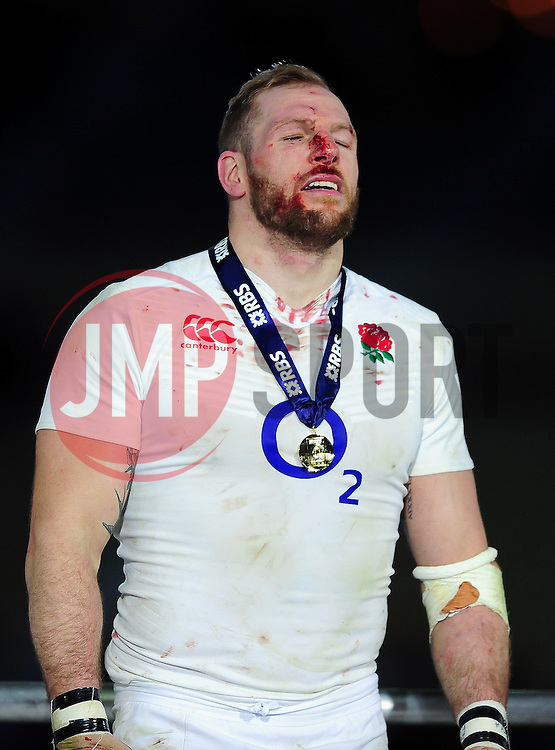 James Haskell of England looks relieved after the match - Mandatory byline: Patrick Khachfe/JMP - 07966 386802 - 19/03/2016 - RUGBY UNION - Stade de France - Paris, France - France v England - RBS Six Nations.