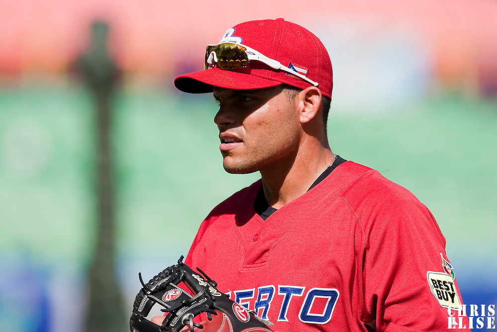 11 March 2009: #7 Ivan Rodriguez of Puerto Rico waits during the batting practice prior to the 2009 World Baseball Classic Pool D game 6 at Hiram Bithorn Stadium in San Juan, Puerto Rico. Puerto Rico wins 5-0 over the Netherlands