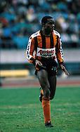 24.05.1987, Urheilukeskus, Lahti, Finland..Mestaruussarja / Finnish National Championship, .FC Kuusysi v Reipas..Calvin Plummer - Reipas.©Juha Tamminen