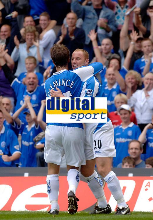 Photo: Glyn Thomas, Digitalsport<br /> Birmingham City v Manchester City. The Barclays Premiership. 20/08/2005.<br /> Nicky Butt (R) celebrates scoring for Birmingham City.
