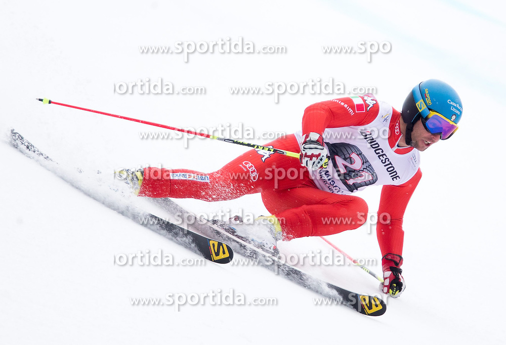 01.03.2015, Kandahar, Garmisch Partenkirchen, GER, FIS Weltcup Ski Alpin, Riesenslalom, Herren, 1. Lauf, im Bild Davide Simoncelli (ITA) // Davide Simoncelli of Italy in action during 1st run for the men's Giant Slalom of the FIS Ski Alpine World Cup at the Kandahar course, Garmisch Partenkirchen, Germany on 2015/03/01. EXPA Pictures © 2015, PhotoCredit: EXPA/ Johann Groder