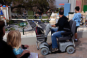 Families look at Miniland in Legoland in Whitehaven, Florida on February 11, 2012.