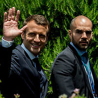 Taormina 27-05-2017 G7, Final Photofamily of the Leaders; Emmanuel Macron