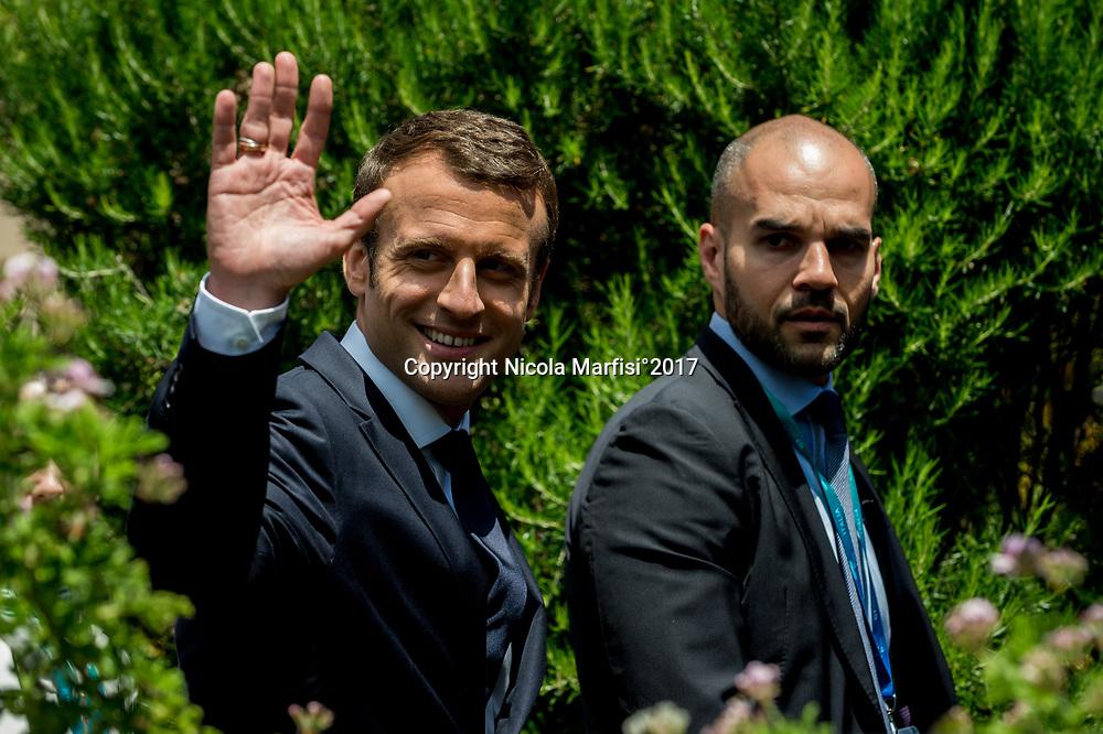 Taormina 27-05-2017 G7, Final Photofamily of the Leaders; Emmanuel Macron
