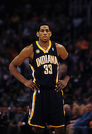 Mar. 6 2010; Phoenix, AZ, USA;  Indiana Pacers forward Danny Granger (33) during the first half at the US Airways Center. The Suns defeated the Pacers 113 to 105. Mandatory Credit: Jennifer Stewart-US PRESSWIRE.
