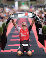 March 23, 2014 - Dirk Bockel (LUX) Ironman Melbourne. Canon 1Dx, Canon 300mm f/2.8 IS II lens, 1/1000 @ f/4  Photo By Lucas Wroe ©