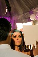 Inspelning av Bollywood-filmen Dulha Mil Gaya - Found a Groom. .Skåderspelerskan på bilden syns Sushmita Sen. Känd Bollywood-skådis och Miss Universe 1994....COPYRIGHT 2008 CHRISTINA SJÖGREN.ALL RIGHTS RESERVED...