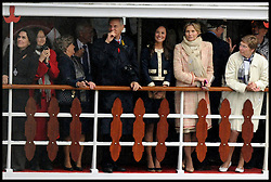 Pippa Middleton the sister of The Duchess of Cambridge takes part in the River Pageant with a flotilla of a 1,000 boats accompanying The Queen and the Royal Family down the Thames to mark the Queen's Diamond Jubilee. Sunday June 3, 2012. Photo by Andrew Parsons/i-Images