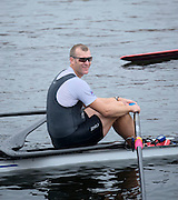 Cambridge. MA. USA. pre 2013 Head of the Charles Publicity for Mini. Red Minis racing NZL M1X Olympic Medalist Mahe DRYSDALE  on the Charles River in front of the Cambridge Boathouse.<br /> <br /> <br />  Thursday  17/10/2013 <br /> <br /> [Mandatory Credit. Peter SPURRIER /Intersport Images]