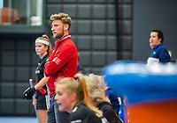 ROTTERDAM - Coach Robert Tigges (Adam) ,  dames Amsterdam-SCHC.   ,hoofdklasse competitie  zaalhockey.   COPYRIGHT  KOEN SUYK