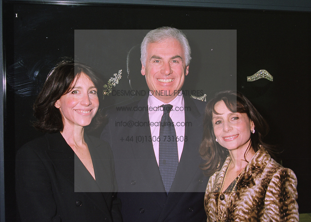 Left to right, the HON.MRS DANILOVICH, MR JOHN DANILOVICH and the HON.MRS BURNESS, the women are the daughters of Lord Forte, at an exhibition in London on 13th November 1997.MDH 3