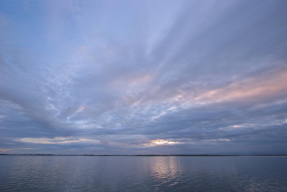 Lauwersmeer, zonsopkomst.