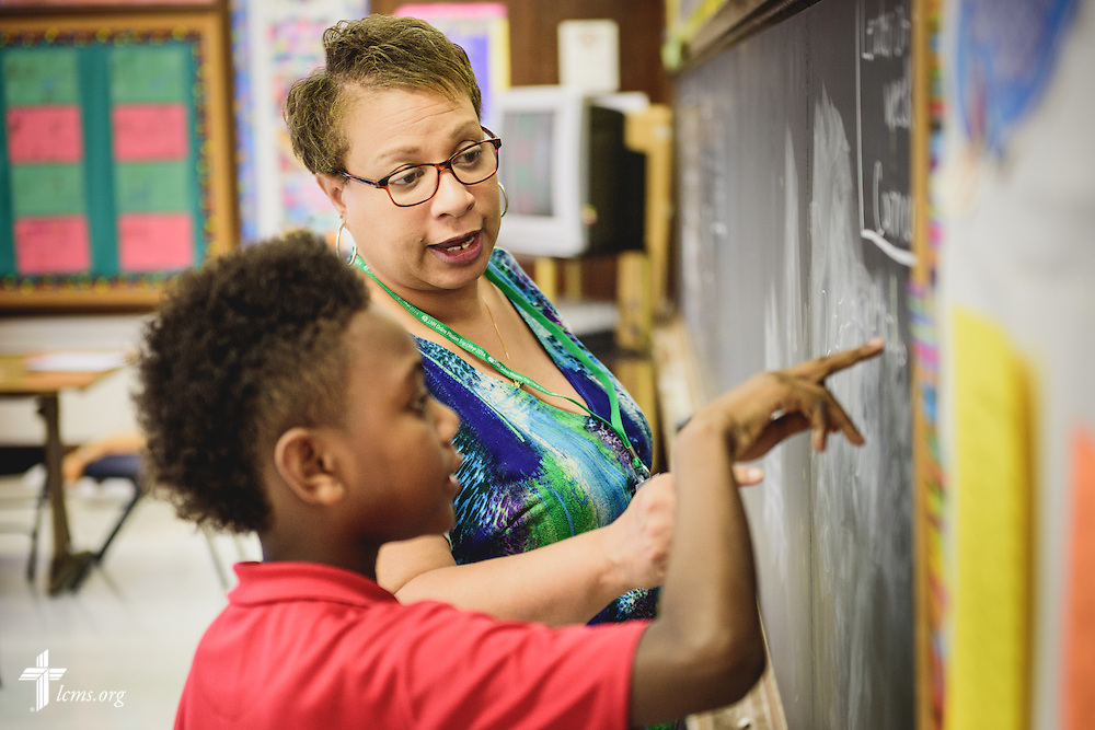 A teacher works with a student at River Roads Lutheran School on Monday, Oct. 3, 2016, in St. Louis. LCMS Communications/Erik M. Lunsford