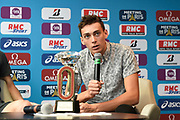 Armand Duplantis (SWE) during press conference of Meeting de Paris 2018, Diamond League, at Hotel Marriott, in Paris, France, on June 29, 2018 - Photo Jean-Marie Hervio / KMSP / ProSportsImages / DPPI