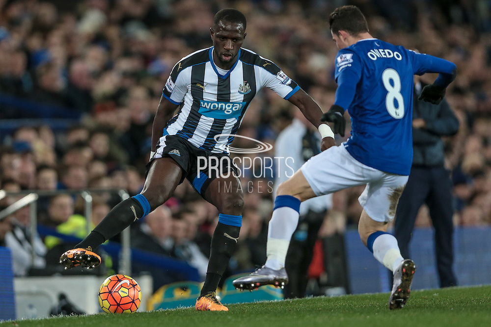 Moussa Sissoko (Newcastle United) during the Barclays Premier League match between Everton and Newcastle United at Goodison Park, Liverpool, England on 3 February 2016. Photo by Mark P Doherty.