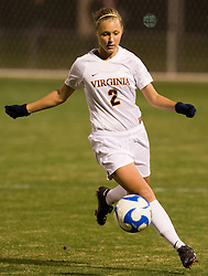 Virginia defender Sarah Senty (2)..The Virginia Cavaliers defeated the Loyola (MD) Greyhounds 4-1 in the first round of the NCAA Women's Soccer tournament held at Klockner Stadium in Charlottesville, VA on November 16, 2007.