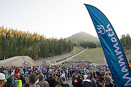 Cam Zink for the world record 100ft MTB Mammoth Flip backflip for World of X Games at Mammoth Mountain, CA. © Brett Wilhelm