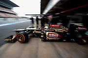 February 21, 2013 - Barcelona Spain. Romain Grosjean, Lotus F1 Teamduring pre-season testing from Circuit de Catalunya.