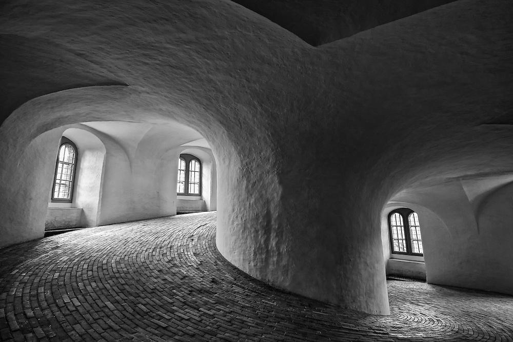 Rundetårn (Round Tower) is a 17th century tower located in central Copenhagen. One of the many architectural projects of Christian IV, it was built as an astronomical observatory. It is most noted for its 7.5-turn helical corridor leading to the top, and for the extensive views it affords over Copenhagen.