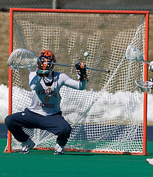 The #1 ranked Virginia Cavaliers Men's Lacrosse team scrimmaged the #6 Georgetown Hoyas at the University of Virginia's Turf Field in Charlottesville, VA on February 10, 2007.