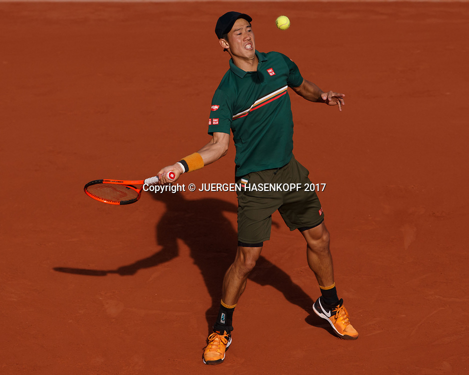 KEI NISHIKORI (JPN)<br /> <br /> Tennis - French Open 2017 - Grand Slam / ATP / WTA / ITF -  Roland Garros - Paris -  - France  - 7 June 2017.