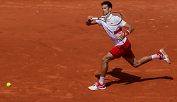 May 30, 2018 - Paris, Ile-de-France, France - Novak Djokovic of Serbia returns the ball to Jaume Munar of Spain during the second round at Roland Garros Grand Slam Tournament - Day 4 on May 30, 2018 in Paris, France. (Credit Image: © Robert Szaniszlo/NurPhoto via ZUMA Press)