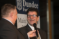 09/02/2017 - Camy Fraser being interviewed at Dundee FC Hall of fame dinner at the Invercarse Hotel, Dundee  Picture by David Young -