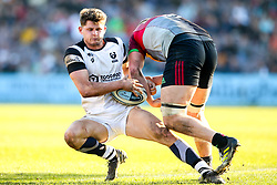 Piers O'Conor of Bristol Bears is tackled - Mandatory by-line: Robbie Stephenson/JMP - 23/02/2019 - RUGBY - Twickenham Stoop - London, England - Harlequins v Bristol Bears - Gallagher Premiership Rugby