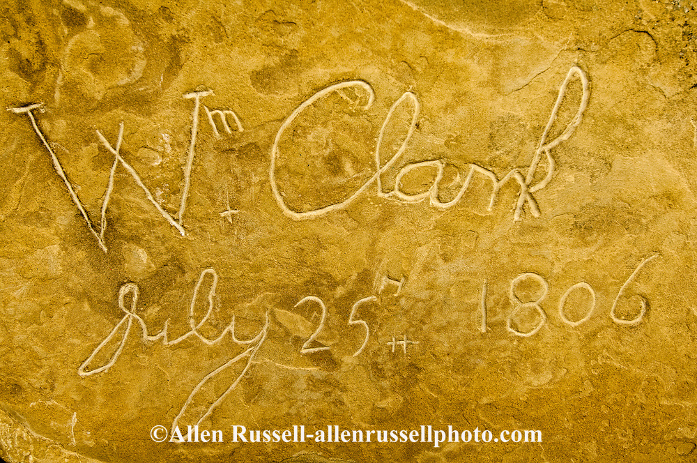Pompeys Pillar National Monument, Montana, Lewis and Clark, Clarks signiture