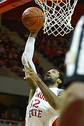 29 December 2011:  Jackie Carmichael eyes the hoop as he approaches for a shot during an NCAA mens basketball game between the Northern Illinois Panthers and the Illinois State Redbirds in Redbird Arena, Normal IL