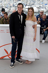 """director Quentin Tarantino, actress Margot Robbie, actors Brad Pitt and Leonardo di Caprio attending film """"Once upon a time in ... Hollywood"""" photocall at 72nd Cannes film festival. 22 May 2019 Pictured: Margot Robbie, Quentin Tarantino. Photo credit: maximon / MEGA TheMegaAgency.com +1 888 505 6342"""