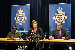 © Licensed to London News Pictures. 03/12/2014. Bristol, UK. Pascal Malbrouck age 37 partner of Charlotte Bevan, and Rachel Fortune age 59, mother of Charlotte Bevan missing person, and DCI Simon Crisp at police press call re search for Charlotte Bevan age 30 and her 4 day old baby daughter Zaani Tiana Bevan Malbrouck who went missing from the Bristol Maternity Hospital on St Michaels Hill  Photo credit : Simon Chapman/LNP
