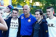 10-07-2015 VOETBAL: WILLEM II - KVC WESTERLOO:TILBURG<br /> <br /> Trainer/Coach Jurgen STREPPEL van Willem II gaat op de foto met supporters<br /> <br /> Foto: Geert van Erven