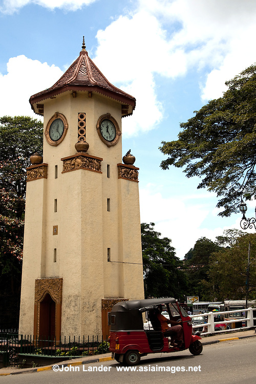 Kandy Clocktower - The Ismail clock tower was built in 1947 by the Ismail Family in memory of his beloved son Mohomed Zacky Ismail who lost his life in Kadugannawa.  The tower was by the mayor of Kandy in the presence of the family members. All the machinery and equipment needed for this project was imported from the United Kingdom and the land was acquired by the Kandy Municipal Council. The clock tower is a historic monument and marks the center of Kandy.
