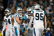 January 24, 2016: Carolina Panthers vs Arizona Cardinals. Luke Kuechly