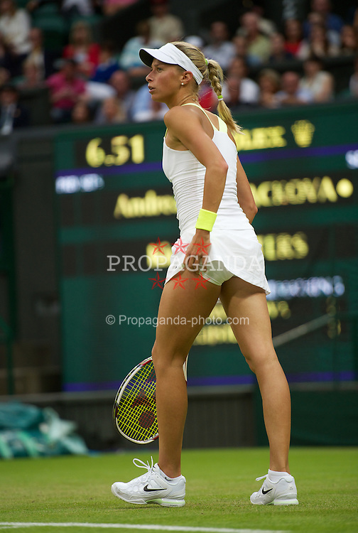 LONDON, ENGLAND - Wednesday, June 27, 2012: Andrea Hlavackova (CZE) during the Ladies' Singles 2nd Round match on day three of the Wimbledon Lawn Tennis Championships at the All England Lawn Tennis and Croquet Club. (Pic by David Rawcliffe/Propaganda)