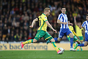 Norwich City forward Alex Pritchard (21) during the EFL Sky Bet Championship match between Norwich City and Brighton and Hove Albion at Carrow Road, Norwich, England on 21 April 2017.