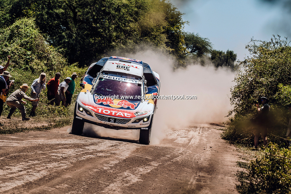 Sebastien Loeb (FRA) of Team Peugeot TOTAL races during stage 2 of Rally Dakar 2017 from Resistencia to San Miguel de Tucuman, Argentina on January 3, 2017. // Flavien Duhamel/Red Bull Content Pool // P-20170103-00428 // Usage for editorial use only // Please go to www.redbullcontentpool.com for further information. //