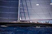 Hanuman, J Class, sailing in the St. Barth's Bucket Regatta, day one.
